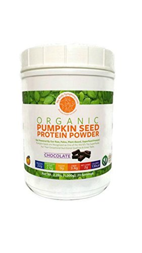 Organic Pumpkin Seed Protein Powder: The World's Best Tasting & Most Complete Plant-Based Protein Powder; Vegan, Paleo -20 Servings Chocolate Flavor - 2.2 lbs.