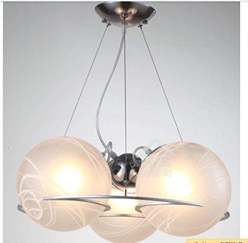 BWLZSP Lámpara Colgante de Cristal Moderna de 3 Cabezas Luminaria Droplight Dormitorio Comedor Estudio lámparas Colgantes de Regalo LO127425PY