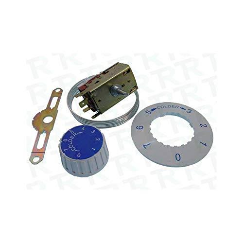 REPORSHOP - Termostato Frigorifico 2 Puertas Standard VT93 Ranco Capilar 3 Metros