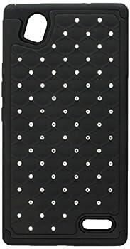 Asmyna Carrying Case for ZTE-N9518  Warp Elite  - Retail Packaging - Black/Dull Black