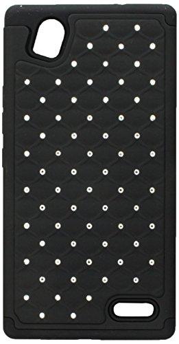 Asmyna Carrying Case for ZTE-N9518 (Warp Elite) - Retail Packaging - Black/Dull Black
