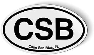 Stickers & Tees CSB Cape San Blas FL Florida Oval - Car Magnet - 5