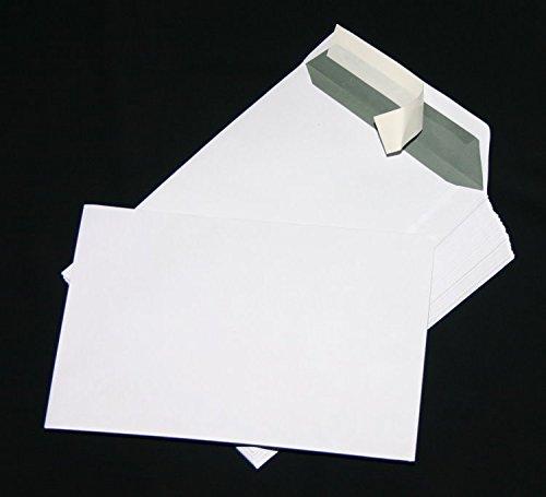 200 St. Versandtaschen extra stark 120 gr. DIN A4 C4 weiß ohne Fenster Kuvert Haftklebend Briefumschläge HK