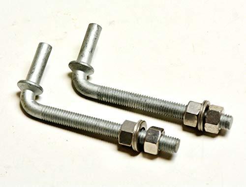 Gewindekloben Stahl Dorn D= 10,5 mm 120 mm lang - Set á 2 Stk.