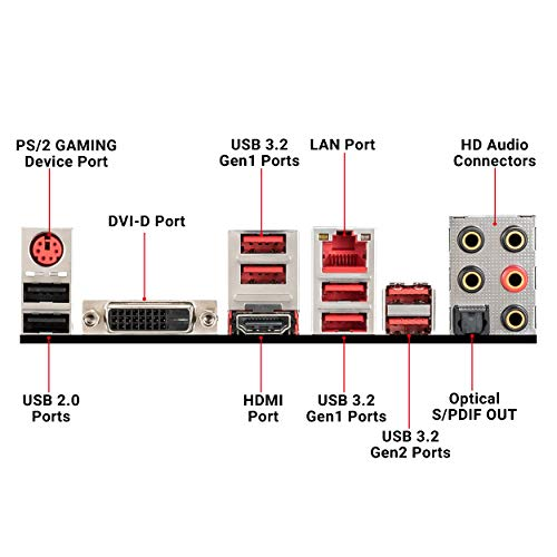MSI X470 GAMING PLUS MAX Scheda madre da gioco ad alte prestazioni, USB 3.2(Gen2)