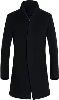 Hot Daoroka Men's Autumn Winter Warm Long Jacket Coats Button Smart Stand Collar Overcoat Outwear