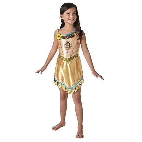 Rubies Vestido de lujo oficial de PocahontasDisfrazDisfraz de princesa Disney libro de cuento de hadas