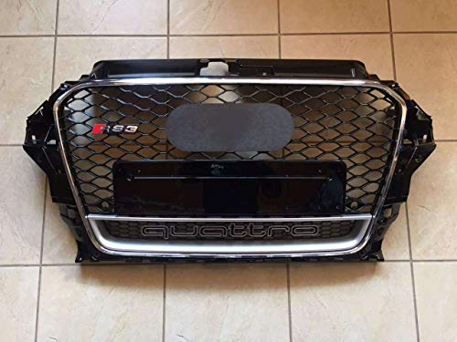 A3 8V 2012-2015 grill grille front grill in RS3 Quattro Style chrome