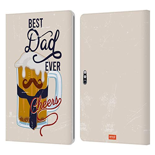 Head Case Designs Officially Licensed Emoji Best Dad Ever Celebration Cases Leather Book Wallet Case Cover Compatible with Microsoft Surface Pro 4/5/6