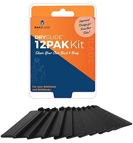 baKblade 2.0 Nachfüllpatronen für Haar- und Körperrasierer für 2.0 und 2.0 Elite-Rasierer - Dryglide-Technologie (12 Rasierer enthalten)