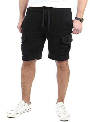 Reslad Kurze Hose Herren Cargo Bermuda Shorts Jogginghose Sport-Hose RS-5069 Schwarz L