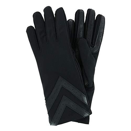 isotoner Women?s smartDRI Chevron Spandex Stretch Touchscreen, Black, Large/Xlarge