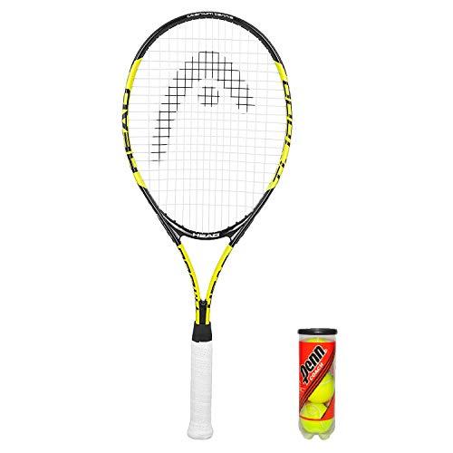 HEAD Titanium T1000 - Raqueta de tenis, funda protectora y 3 pelotas de tenis