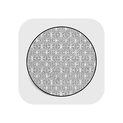 Star Harbor Shapers Akzent Teppich  Moderne Cartoon/geometrische Teppiche Teetischmatten Runde Teppiche Anti-Rutsch-Matten für Wohnzimmer/Schlafzimmer/Hotel/Yoga Play-4-60CM