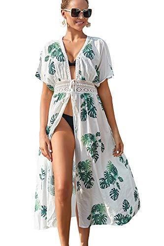 L-Peach Ropa de Dormir para Mujer camisón Kaftan Kimono de Gran tamaño Vestido de Playa encubrimientos