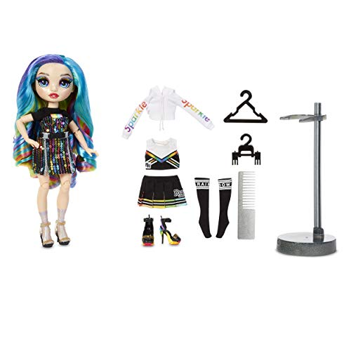 Rainbow High Sammlerpuppen - Designerkleidung, Accessoires und Ständer - 2 komplette Mix und Match-Outfits - Spielzeug für Kinder im Alter von 6-12 Jahren - Amaya Raine, Rainbow - Rainbow High Serie 2