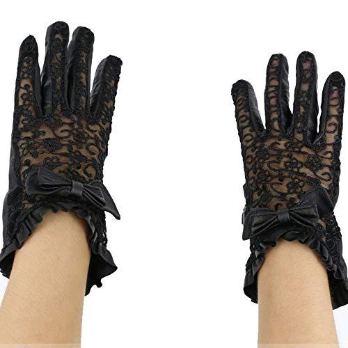 Guantes de encaje, vestido sexy, guantes de mallas, elegante, protección solar, 2 par medival ita mujer de encaje guantes de cuero genuino pulsera tapa de la muñeca de la moda de la dama de la señora