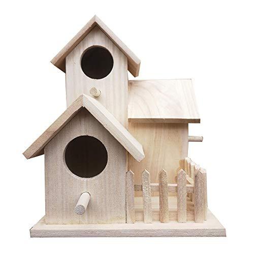 PIONIN Mangiatoia per Uccelli con Tetto Tavolo Bird per Giardino Casetta per Uccelli da Appendere per Giardino & Balcone
