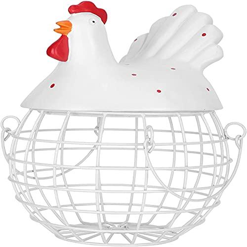 XinLuMing Evento de Huevo, Alimentos de Huevo, Forma de Pollo Hierro Durable Fácil para Pantalla Frigorífico (Color : White)