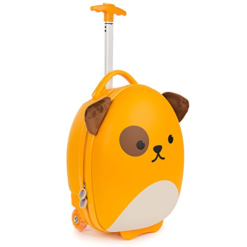 Boppi Tiny Trekker Leichter Kinderreisetrolley zum Ziehen mit Rädern in Handgepäckgröße (17 Liter Fassungsvermögen) - Hund