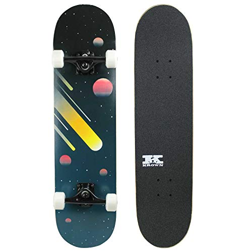 Krown Pro Skateboard Complete Pre-Built Space Cosmos 7.75' Ready to Ride