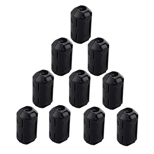 Fushengda 10 Stück 7 mm Innendurchmesser Wechselrahmen Ferrit Ring Core störsicher-Filter RFI EMI Rauschunterdrücker Kabel-Clip Schwarz