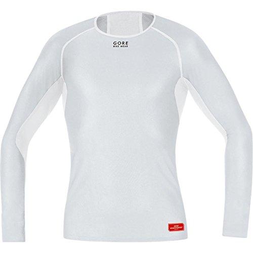 GORE WEAR Herren Teamtrikot Base Layer Windstopper Shirt Long Trikots & Teamtrikots, Hellgrau/Weiß, S