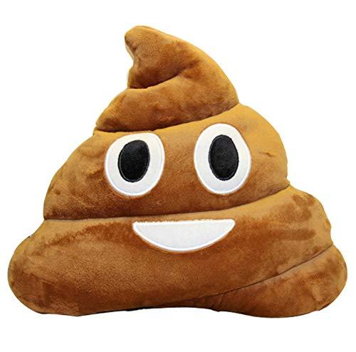 Weiche Stonstoff Kissen Poop Spielzeug Braun Smiley Poo Kissen Poop 35Cm Emoji Kissen Weiche Süße Kissen Gefüllt Plüsch Spielzeug Weich