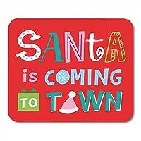 ゲーミングマウスパッドお祝いサンタは町のクリスマスお祝いの装飾オフィスコンピュータアクセサリー滑り止めラバーバッキングマウスパッドマウスマット