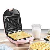 Portátil y compacto eléctrico sandwichera rápida calefacción con aceite en las placas...