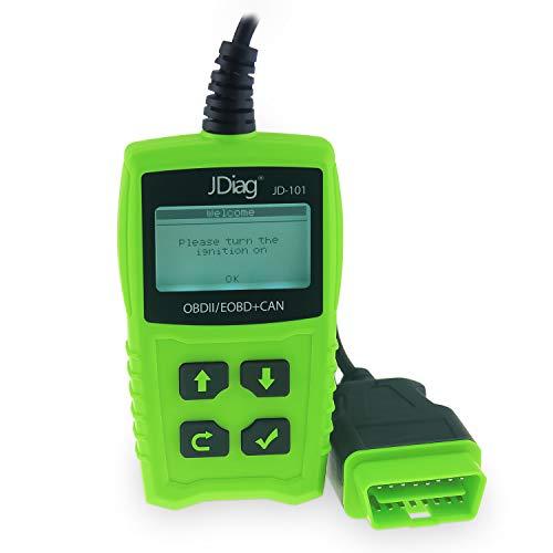 Ysding OBD2 Coche Diagnóstico Escáner Automático Lector de Código de Vehículos con Standardem de 16 Pin Interfaz con Lectura y Borrado de Códigos de Error para Todos los Vehículos Desde 2000