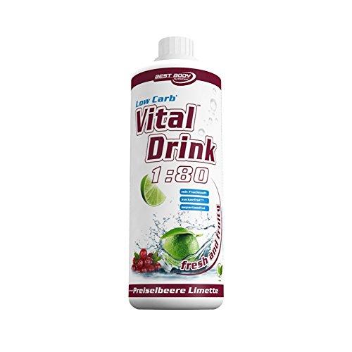 Best Body Nutrition Vital Drink Preislebeer-Limette, Getränkekonzentrat, 1000 ml Flasche