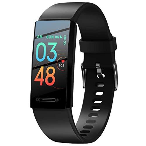 Smartwatch onsea Uomo Donna Fitness Impermeabile IP68 Sport, Cardiofrequenzimetro da Polso Uomo con Touchscreen 1.14', Fitness Tracker Sport Impermeabile Bambini per Android iOS
