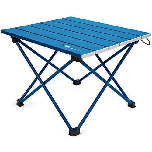 Moon Lence キャンプテーブル アルミ ロールテーブル アウトドア ハイキング BBQ 折りたたみ式 コンパクト 超軽量 収納袋つき M…