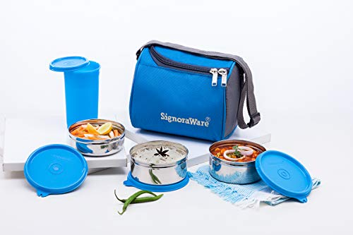 Signoraware Best Steel Lunch Box Set of 4