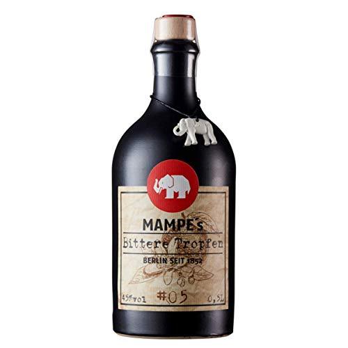 Mampe Bittere Tropfen | Kräftiger Magenbitter nach Rezept von 1831 | Berlins älteste Spirituosenmanufaktur – Tradition seit mehr als 160 Jahren | 1 x 0.5 Liter | 45% Vol.