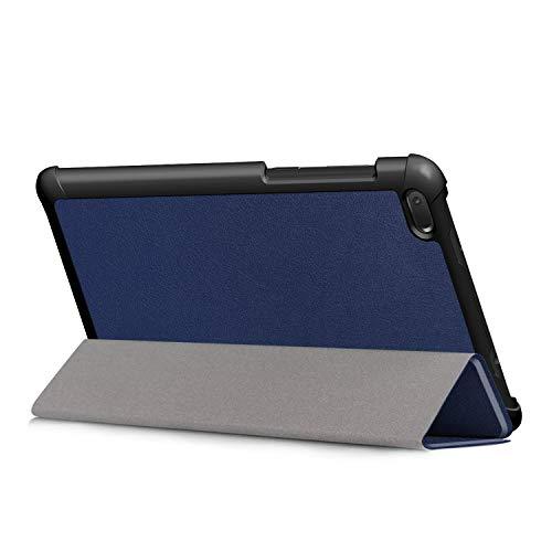Kepuch Custer Hülle für Lenovo Tab E7 TB-7104F,Smart PU-Leder Hüllen Schutzhülle Tasche Hülle Cover für Lenovo Tab E7 TB-7104F - Blau