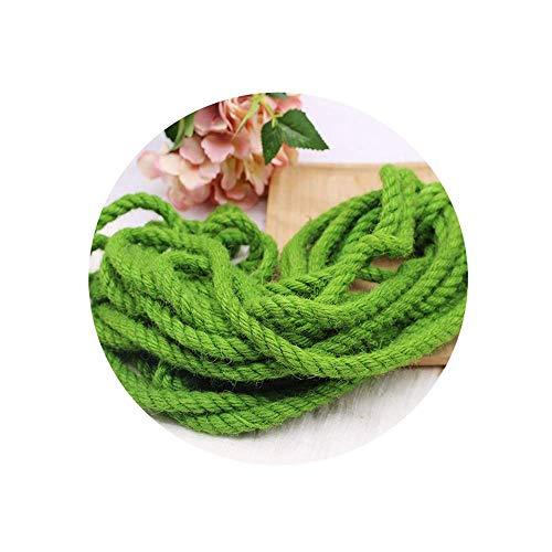 Corde de Chanvre de 10 mm , Blanc/Vert - 10 M / 20 M / 60 M / 80 M / 100 M - Convient pour Le Cadre d'escalade Corde de Chanvre Cactus enroulé Autour du Tuyau (Couleur: Vert, Taille: 20 m)