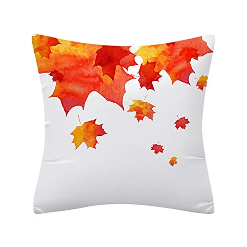 Watercolor Pumpkin Cushions Cover Heart Halloween Thanksgiving, Pillow Case, Home & Garden (E)
