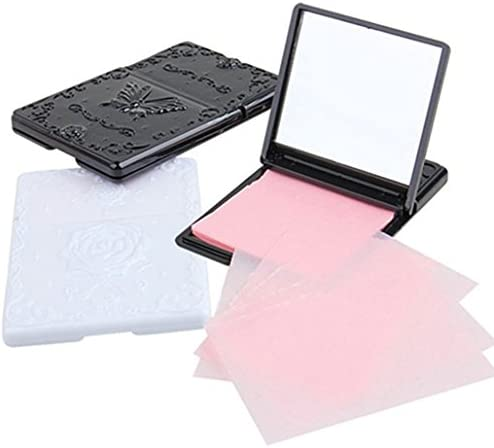 50 Sheets Face Oil Absorbing Paper Tissues Top Handy Oil Blotting Paper with Mirror Case Handy product image