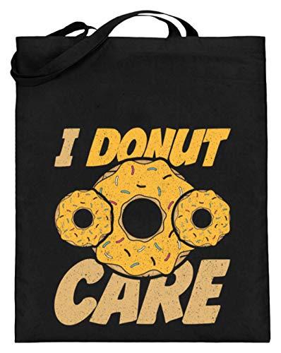 Chorchester Ideal für Donut Liebhaber - Jutebeutel (mit langen Henkeln) -38cm-42cm-Schwarz