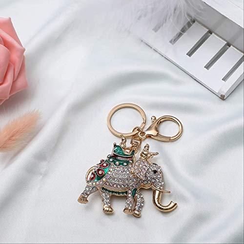 yishouhengcheng Schlüsselbund Handtasche Anhänger Terrakotta Krieger Reiten Elefant Legierung Schlüsselanhänger Kreative Kleine Geschenk Anhänger