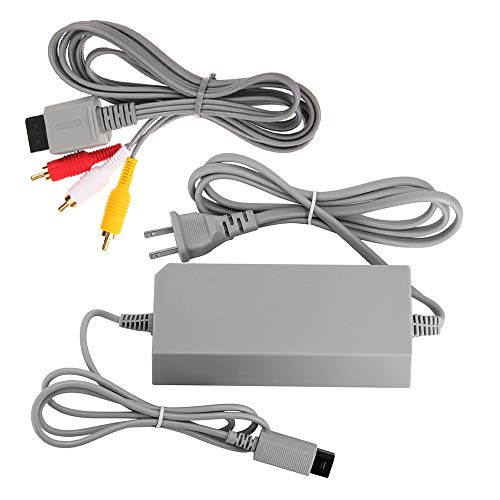 AreMe AC Power Supply Adapter and AV Cable for Wii Console