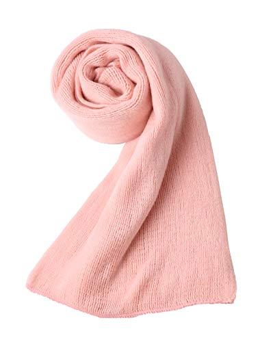 Sourcingmap Écharpe d'hiver pour femme chaude tricotée longue forme rectangulaire élégante Rose Taille unique