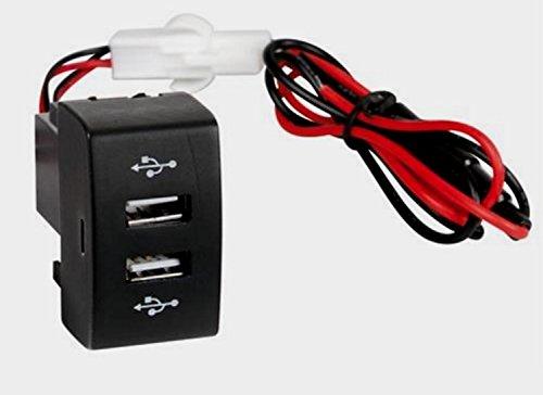 Cargador para camión de 12/24 V, máx. 3 A, doble puerto USB, salida de alimentación para Stralis Eurocarga, ajuste OEM.