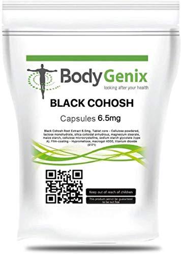 Bodygenix Black Cohosh supplement - 6.5mg 30 Capsules