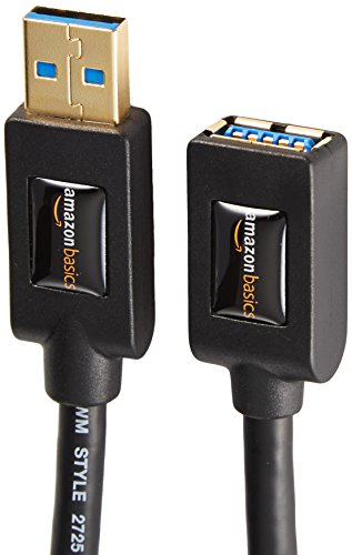 AmazonBasics USB 3.0 Extension Cable - A-Male to A-Female Extender Cord - 6 Feet (2 Pack)