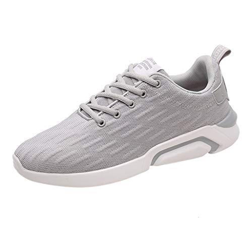 AIni Herren Schuhe Sale Mode Beiläufiges 2019 Neuer Heißer Schuhe Netzschuhe Freizeit Sportschuhe Sind im Sommerschuh Atmungsaktiv Freizeitschuhe Partyschuhe (43,Weiß)