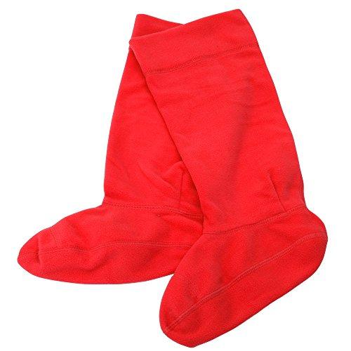 Universaltextilien Mädchen Socken für Gummistiefel, unifarben, 1 Paar (EUR 37-39) (Rot)