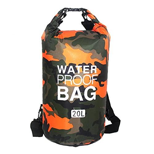 Bolso seco impermeable flotante seco Mochila Ligera Dry Sack para la playa Barco Pesca Kayaking Natación 20L Naranja de aire libre de remos Bote Accesorios